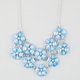 FULL TILT 2 Row Frosted Flower Statement Necklace