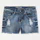 HIPPIE LAUNDRY Girls Highwaisted Cutoff Denim Shorts