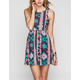 FULL TILT Ethnic Print Cutout Dress