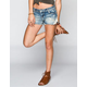 HIPPIE LAUNDRY Crochet Trim Womens Denim Cutoff Shorts