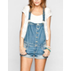 ALMOST FAMOUS Womens Denim Short-alls