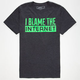 RIOT SOCIETY Blame The Internet Mens T-Shirt
