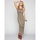 BILLABONG Jungle Tonight Bodycon Maxi Dress
