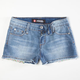 SCISSOR Girls Denim Cutoff Shorts