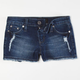 SCISSOR Girls Cutoff Denim Shorts