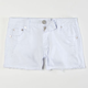 SCISSOR Frayed Hem Girls Shorts