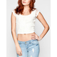 FULL TILT Lace Overlay Womens Crop Top