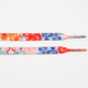 BLUE CROWN Floral Print Shoelaces