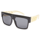 BLUE CROWN Flat Top Gold Chain Sunglasses