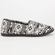 SODA Tribal Print Womens Slip-On Shoes