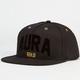 AURA GOLD Aura Wool Mens Snapback Hat