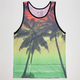 BLUE CROWN Rasta Sunset Mens Tank