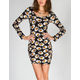 FULL TILT Daisy Elbow Sleeve Bodycon Dress