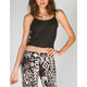 FULL TILT Scallop Strap Womens Crop Tank