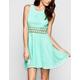 FULL TILT Crochet Inset Lace Overlay Dress