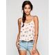 FULL TILT Floral Print Womens Tie Back Cami