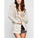 FULL TILT Womens Boyfriend Cardigan