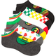 FULL TILT Rasta 6 Pack Socks