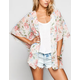 LOTTIE & HOLLY Floral Print Womens Kimono