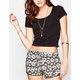 H.I.P. Lattice Back Womens Crop Top