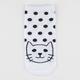FULL TILT Polka Dot Cat Womens Ankle Socks