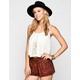 FULL TILT Crochet Front Womens Swing Tank