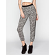 LILY WHITE Ditsy Print Womens Banded Bottom Pants
