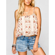 FIRE Lace Inset Womens Crop Top