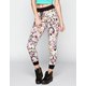 FULL TILT Floral Womens French Terry Jogger Pants
