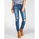 YMI Wanna Betta Butt Womens Destructed Skinny Jeans