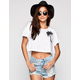 VOLCOM Slashed Womens Crop Tee