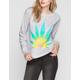 FULL TILT Rainbow Leaf Womens Sweatshirt