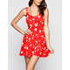 SOCIALITE Daisy Print Lattice Side Dress