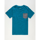 BLUE CROWN Contrast Boys Pocket Tee