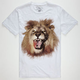 BILLABONG White Mike Jungle King Mens T-Shirt