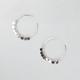 FULL TILT Disc Drops Hoop Earrings