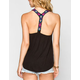 FULL TILT Embroidered Womens T-Back Tank