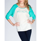 RVCA Big RVCA Stamp Womens Baseball Tee