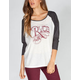 RVCA Republic Womens Baseball Tee