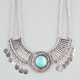 FULL TILT Bar & Disc Turquoise Statement Necklace