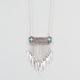 FULL TILT Turquoise Bar Chain Fringe Necklace
