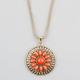 FULL TILT Flower Medallion Necklace