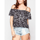 FULL TILT Boho Womens Cold Shoulder Top