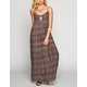 FULL TILT Lattice Side Maxi Dress