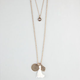 FULL TILT Evil Eye/Hamsa Hand/Tassel 2 Row Necklace