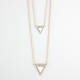 FULL TILT Ivory Triangle 2 Row Necklace