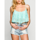 FULL TILT Lace Overlay Womens Swing Crop Top