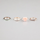 FULL TILT 4 Piece Rose/Bow Rings