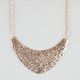 FULL TILT Hammered Plate Statement Necklace