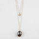 FULL TILT 2 Row Coin & Bead Necklace